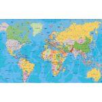 Asian Maps of World, Matt, Size 70 x 100cm