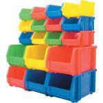 Matlock MTL4041030Y MTL3 Plastic Storage Bin, Length 278mm, Width 222mm, Height 165mm