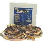 Matlock MTL6625950K Assorted Zinc Plated Hose Clip Set