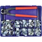 Matlock MTL6627210K Assorted Two Ear Style Zinc Plated O Clip Set