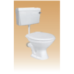 White PVC Cistern With Fitting - Calico