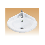 White Wall Hung Corner Basin - Click