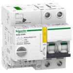 Schneider Electric A9C61210 Integrated Control & Overcurrent Protection Device, Curve B, Pole Double Pole, Rated Current 10A