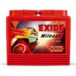 Exide MRDIN60 Car Battery, Capacity 60Ah, Dimension 242 x 175 x 190mm, Weight 16.6kg