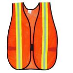 Generic Safety Jacket, Size 2inch, Color Orange