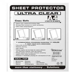 WorldOne LF005 Thick Sheet Protector (Universal Punch-100+100), Size A/4