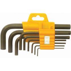 Multitec HSLK-100 Hex Short Allen Key Set with Plastic Holder, Tip Size 1.5-10mm