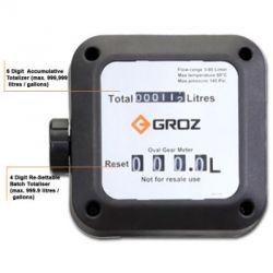 Groz MFM/M10/BSP In-line Flow Meter, Output 120l/minute, Pressure 500PSI