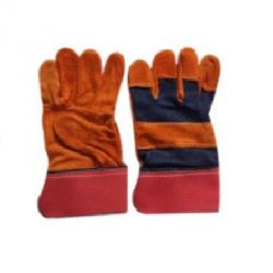 Fire Equipment Engineers Canadian Leather Hand Gloves, Size 10inch, Color Yellow