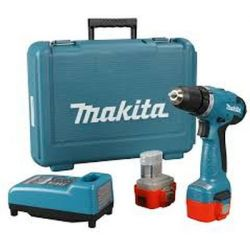 Makita 6261DWPE Cordless Driver Drill, Torque 24/14Nm, Capacity 10mm, Speed 0-400/1300 rpm, Weight 1.5kg, Voltage 9.6V
