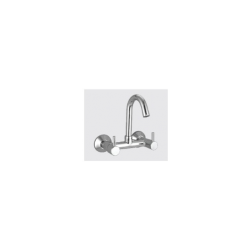 Sink Mixer Wall Mounted with Swivel Bend & Wall Flange