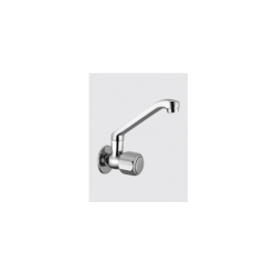 Sink Cock Wall Mounted with Casted Swivel Spout