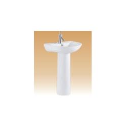 White Pedestal Basin Series - Milano - 530x450x900 mm