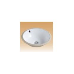White Counter Basin - Monte - 390x330x210 mm