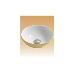Yellow/White Art Basin Colored - Protea - 280x280x100 mm