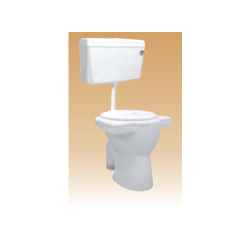 White PVC Cistern With Fitting(Sleek) - Common