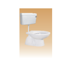 White Dualflush PVC Cistern with Fitting - Calyx