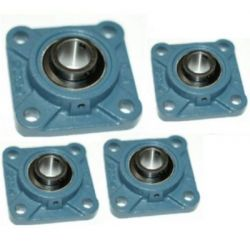 NTN UKFL207D1 Square Flanged Unit Cast Housing, Shaft Dia 30mm, Bolt Size M14mm, Width 43mm