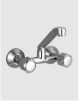 Sink Mixer Wall Mounted with Casted Swivel Spout & Wall Flange