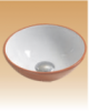 Red/White Art Basin Colored - Peony - 280x280x100 mm