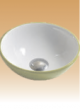 Green/White Art Basin Colored - Omitholum - 280x280x100 mm
