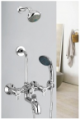 Wall Mixer 3 in 1 with Arrangement For Both Telephone Shower & Over head Shower System