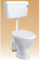 White PVC Cistern With Fitting(Sleek) - Compy