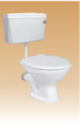 White Dualflush PVC Cistern with Fitting - Calico