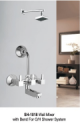 Wall Mixer with Bend For Overhead Shower System