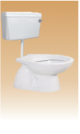 White PVC Cistern With Fitting - Calyx