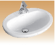 Ivory Above Counter Wash Basin - Action
