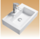 White Wall-Hung Basin - Spire - 490x320x150 mm
