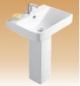 White Pedestal Basin Series - Mabble - 600x465x820 mm