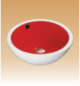White/Red Art Basin Colored - Daisy - 440x440x175 mm