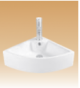 White Wall-Hung Basin - Aliza - 460x460x150 mm
