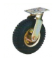 Race 200Kg Pneumatic Rubber Tyre Wheel With Double Ball Bearing-MLT-113-250-PT-B